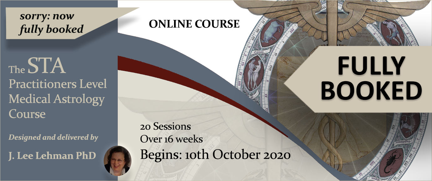 STA Practitioners Level Medical Astrology Course October 2020